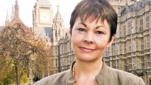 Caroline Lucas at Westminster