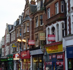 Historic frontages on Station Road East